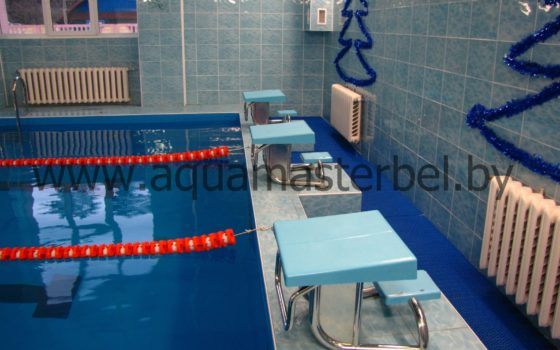 Реконструкция бассейна 25 м, ПВХ плёнка, спортивное оборудование, стартовые тумбы,