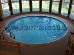 круглый переливной бассейн
