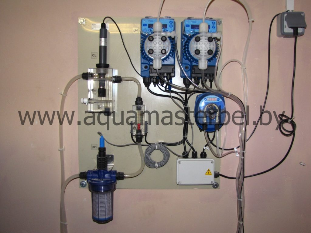 оборудование для бассейнов, дозирование химим