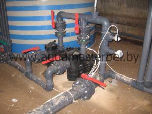 реконструкция бассейна, обвязка, циркуляционные насосы
