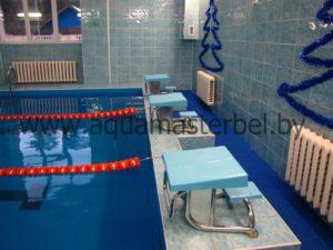 реконструкция бассейна, спортивное оборудование, стартовые тумбы