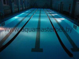 реконструкция бассейна, подводное освещение