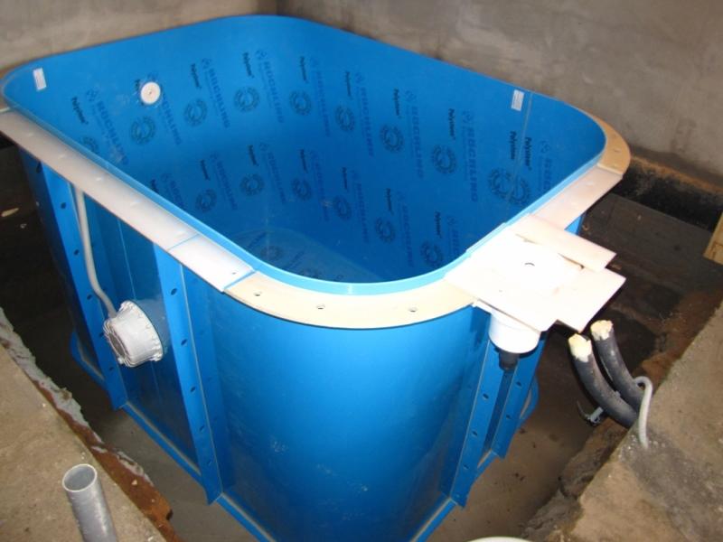 небольшой бассейн из полипропилена