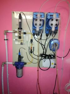 установленная станция дозации химии Seko