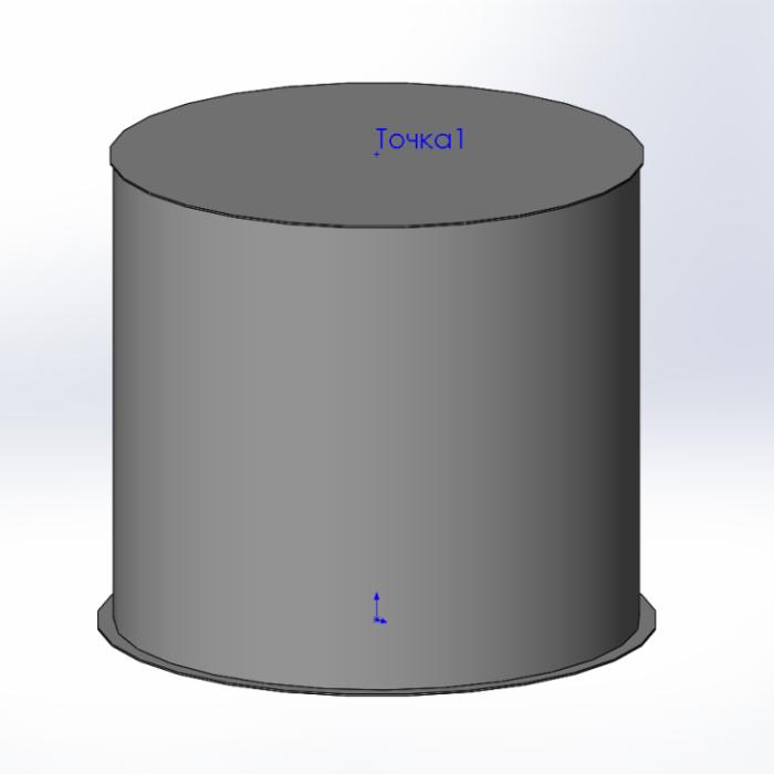 модель технической емкости из полиэтилена