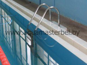 реконструкция бассейна, навесная лестница