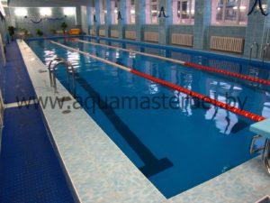 реконструкция бассейна, плавательные разделительные дорожки