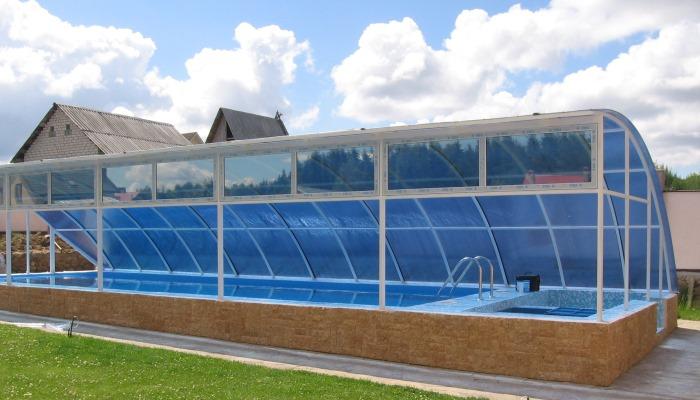 Стационарный навес для бассейна
