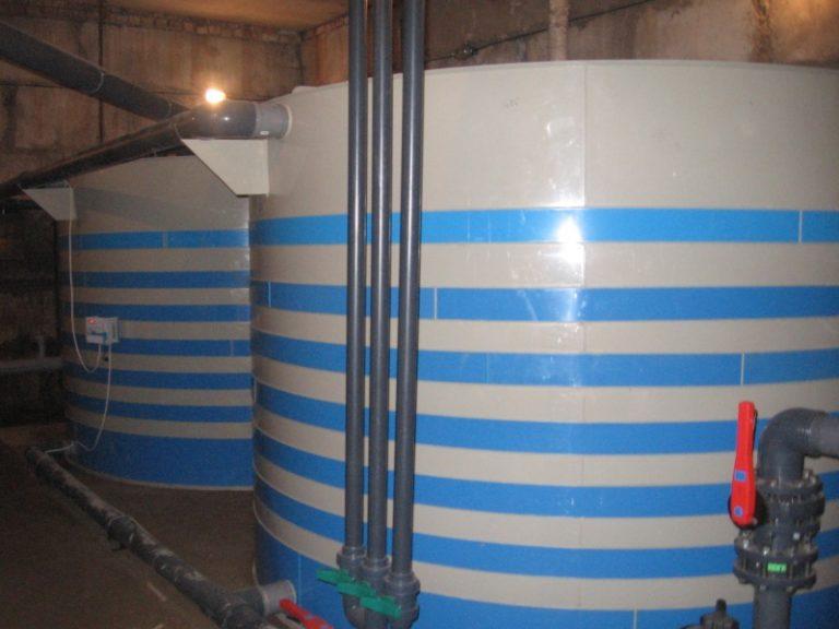 переливные емкости для бассейна из полипропилена